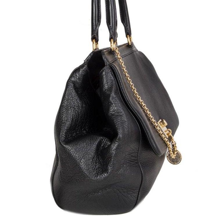Black DOLCE & GABBANA black leather LARGE Shoulder Bag