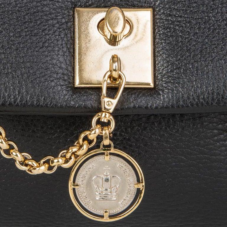 Women's DOLCE & GABBANA black leather LARGE Shoulder Bag