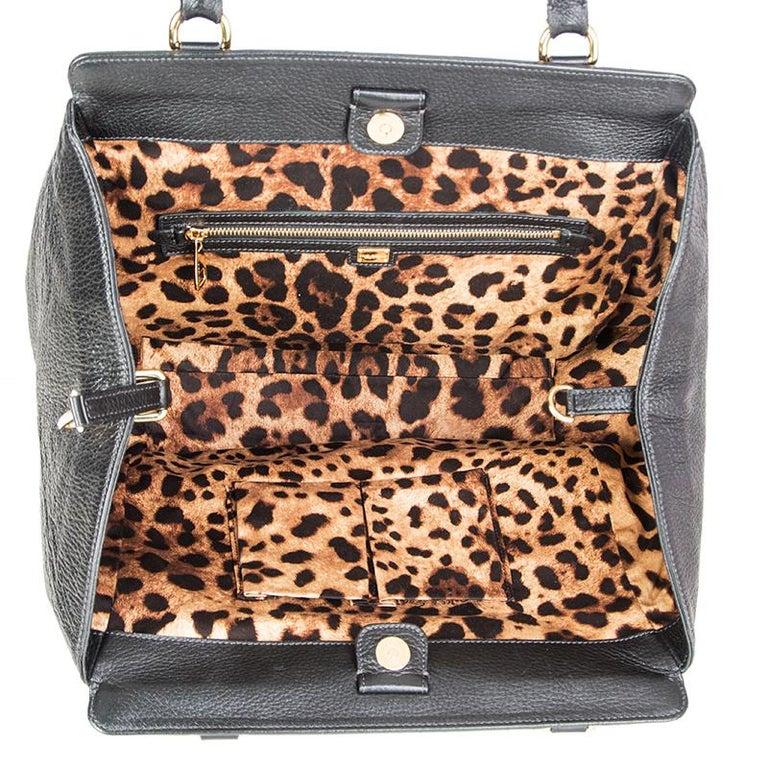 DOLCE & GABBANA black leather LARGE Shoulder Bag 1