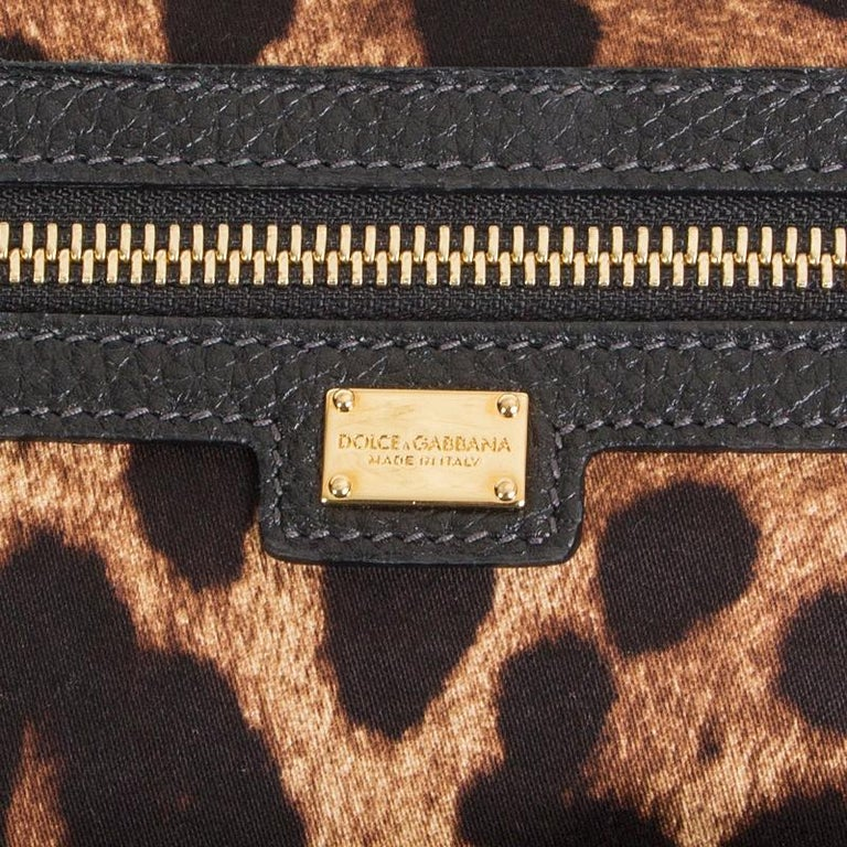 DOLCE & GABBANA black leather LARGE Shoulder Bag 2