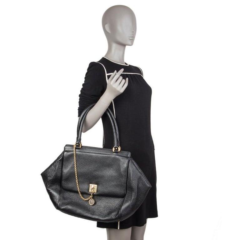 DOLCE & GABBANA black leather LARGE Shoulder Bag 3
