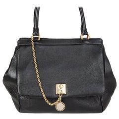DOLCE & GABBANA black leather LARGE Shoulder Bag