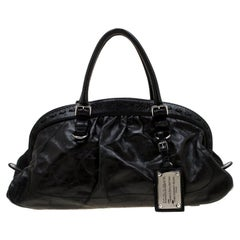 Dolce & Gabbana Black Leather Miss Romantique Satchel