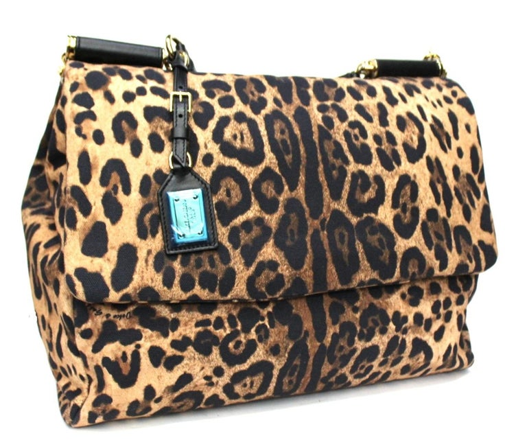 Women's Dolce & Gabbana Black Leather Monica Bag For Sale