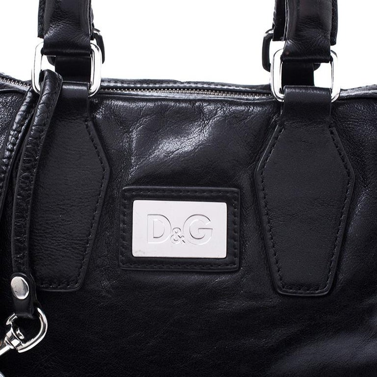Dolce & Gabbana Black Leather Tote For Sale 3