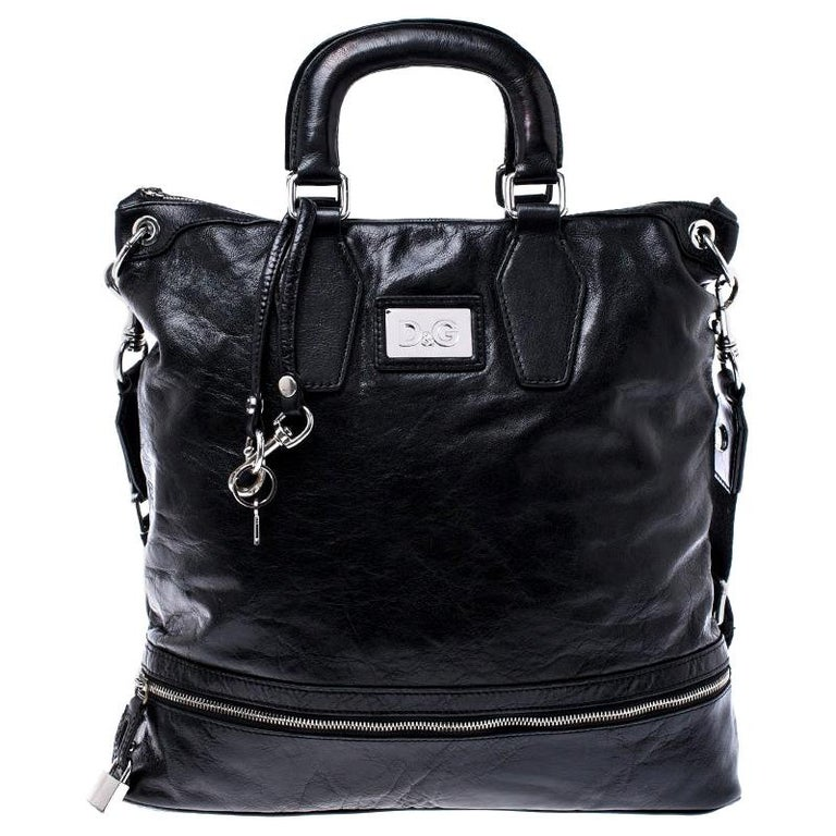 Dolce & Gabbana Black Leather Tote For Sale