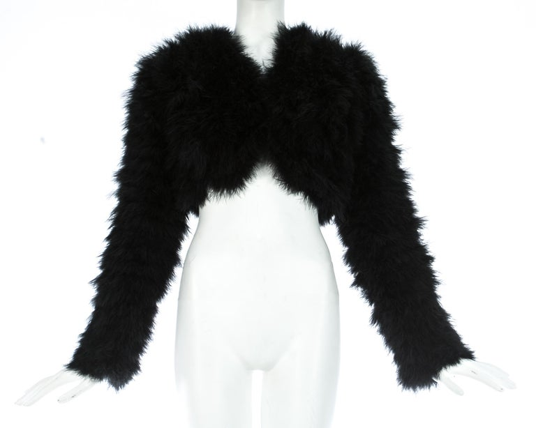 Black marabou bolero jacket  Autumn-Winter 1999