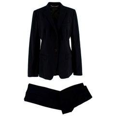 Dolce & Gabbana Black Martini Two Piece Suit - Size US10