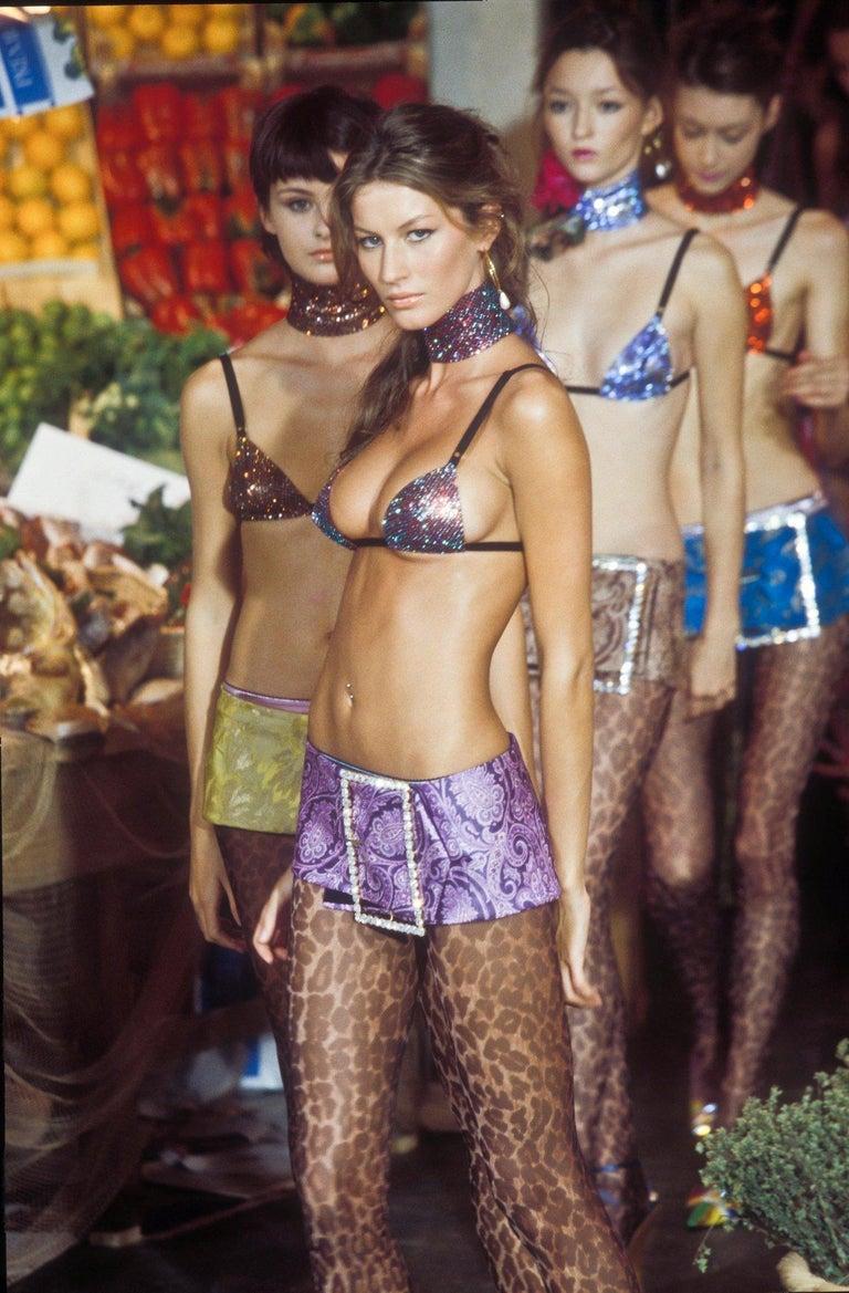 Women's Dolce & Gabbana black metal mesh bra, S/S 2000 For Sale