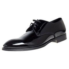 Dolce & Gabbana Black Patent Leather Derby Size 41