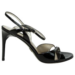 Dolce & Gabbana Black Patent Leather Sandals