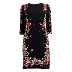 DOLCE & GABBANA black & red FLORAL Sheath Dress 44