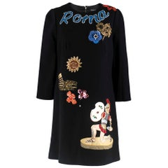 Dolce & Gabbana Black Roma Dress SIZE M