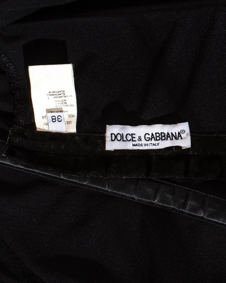 Dolce & Gabbana black satin boned evening corset, c. 1990s For Sale 1