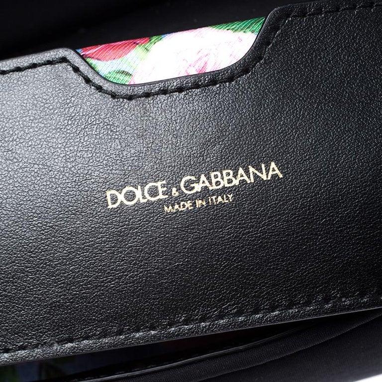 Dolce & Gabbana Black Satin Neoprene Heart Small Miss Sicily Top Handle Bag For Sale 2