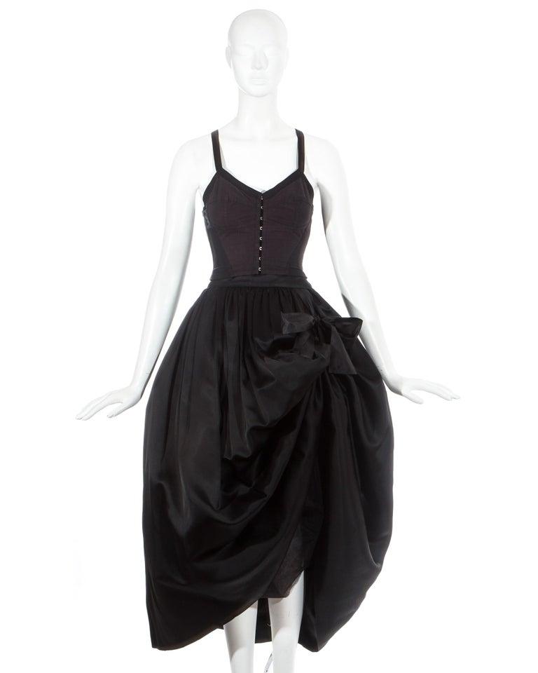 Dolce & Gabbana black silk corset and bustle skirt ensemble  Fall-Winter 1992