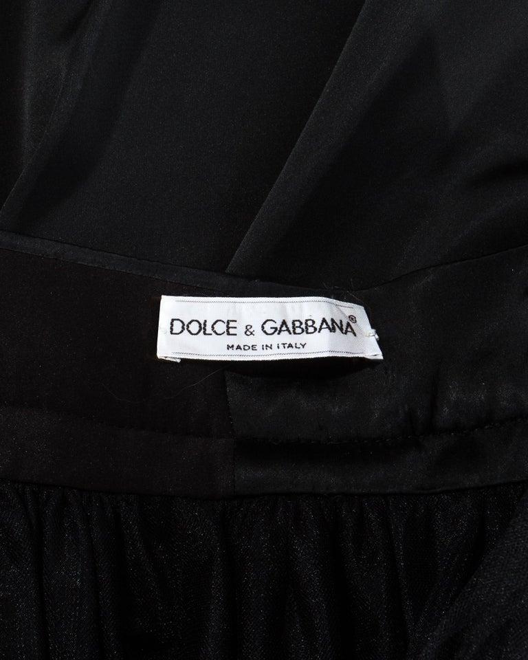 Dolce & Gabbana black silk corset and bustle skirt ensemble, fw 1992 For Sale 1