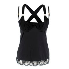 Dolce & Gabbana Black Silk Corset Top IT-2