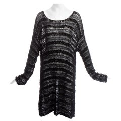 Dolce & Gabbana black silk oversized knitted sweater, ss 1994