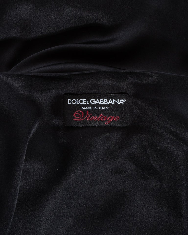 Dolce & Gabbana black silk spandex and leather lace up dress, ss 2003 For Sale 6