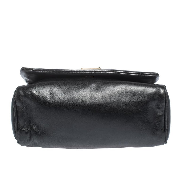 Dolce & Gabbana Black Soft Leather Double Handle Satchel For Sale 1