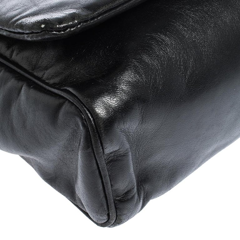 Dolce & Gabbana Black Soft Leather Double Handle Satchel For Sale 2