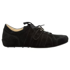 Dolce & Gabbana Black Suede Buckle Sneakers