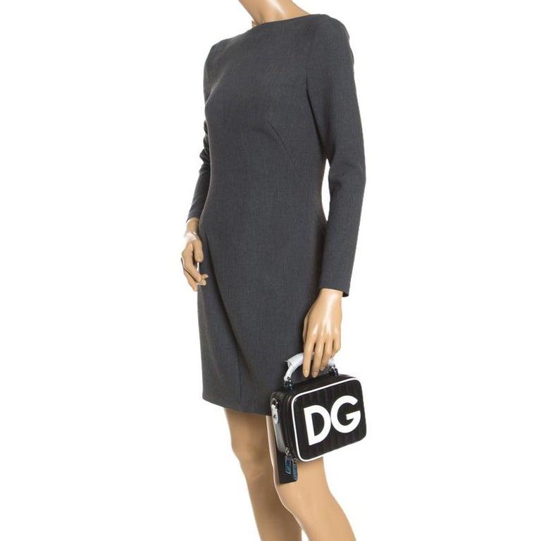 Dolce & Gabbana Black/White Coated Canvas DG Girls Crossbody Bag In New Condition For Sale In Dubai, Al Qouz 2