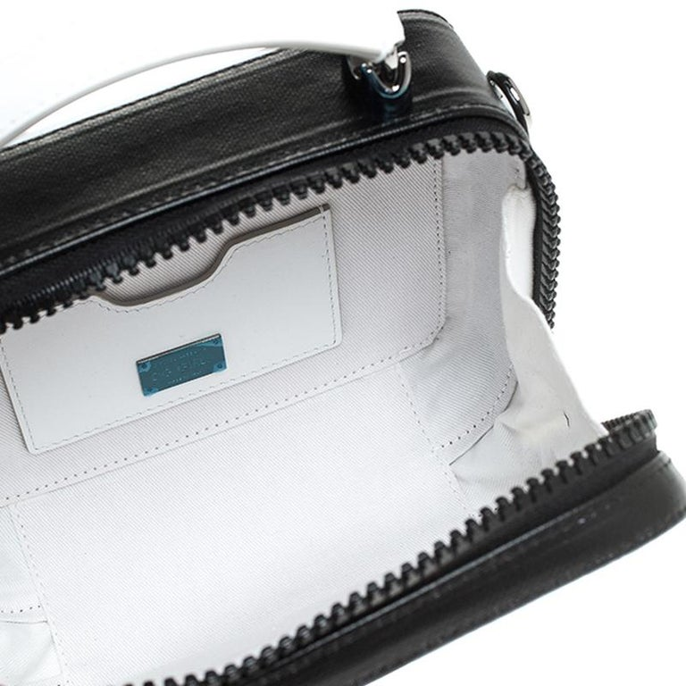 Dolce & Gabbana Black/White Coated Canvas DG Girls Crossbody Bag For Sale 5