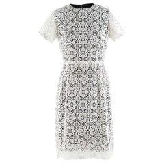 Dolce & Gabbana Black & White Lace Overlay Dress - Size Small