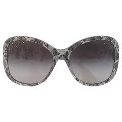 Dolce & Gabbana black white lace sunglasses NWOT