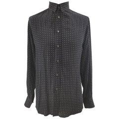 Dolce & Gabbana black white pois shirt