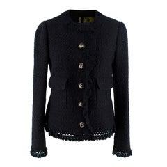 Dolce & Gabbana Black Wool-blend Boucle Jacket