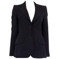 DOLCE & GABBANA black wool Classic Blazer Jacket 42 M