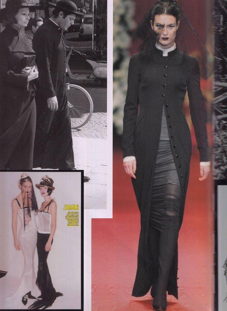 Dolce & Gabbana black wool full length button-up priest coat, ca. 1997 In Excellent Condition For Sale In Chester, Chester