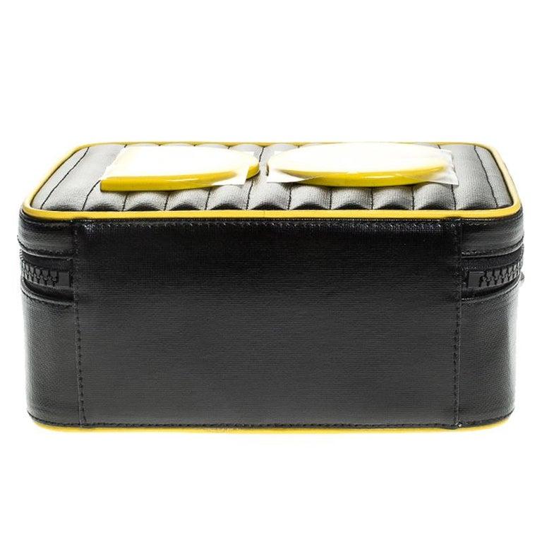 Dolce & Gabbana Black/Yellow Coated Canvas DG Girls Crossbody Bag For Sale 1