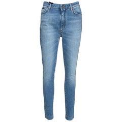 Dolce & Gabbana Blue Stretch Denim High-Waisted Audrey Fit Jeans IT 44