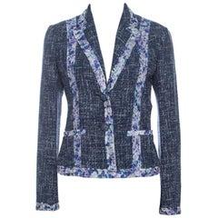 Dolce & Gabbana Blue Tweed Blazer S