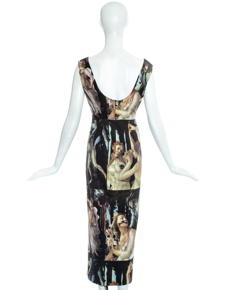 Dolce & Gabbana Botticelli painting printed cotton dress, ss 1993 For Sale 3