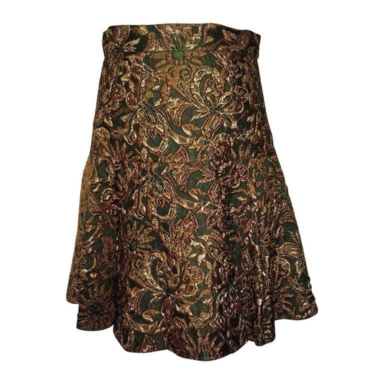 Dolce & Gabbana Brocade Skirt IT 40 For Sale