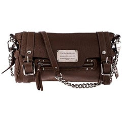 Dolce & Gabbana Brown Leather Easy Way Satchel
