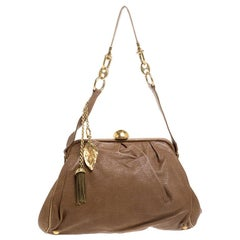 Dolce & Gabbana Brown Leather Frame Bag