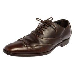 Dolce & Gabbana Brown Leather Oxford Size 40