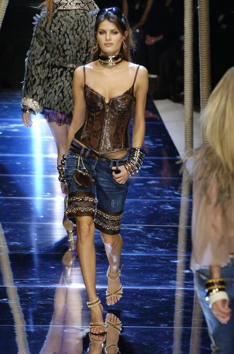Dolce & Gabbana brown python bustier corset, ss 2005 1