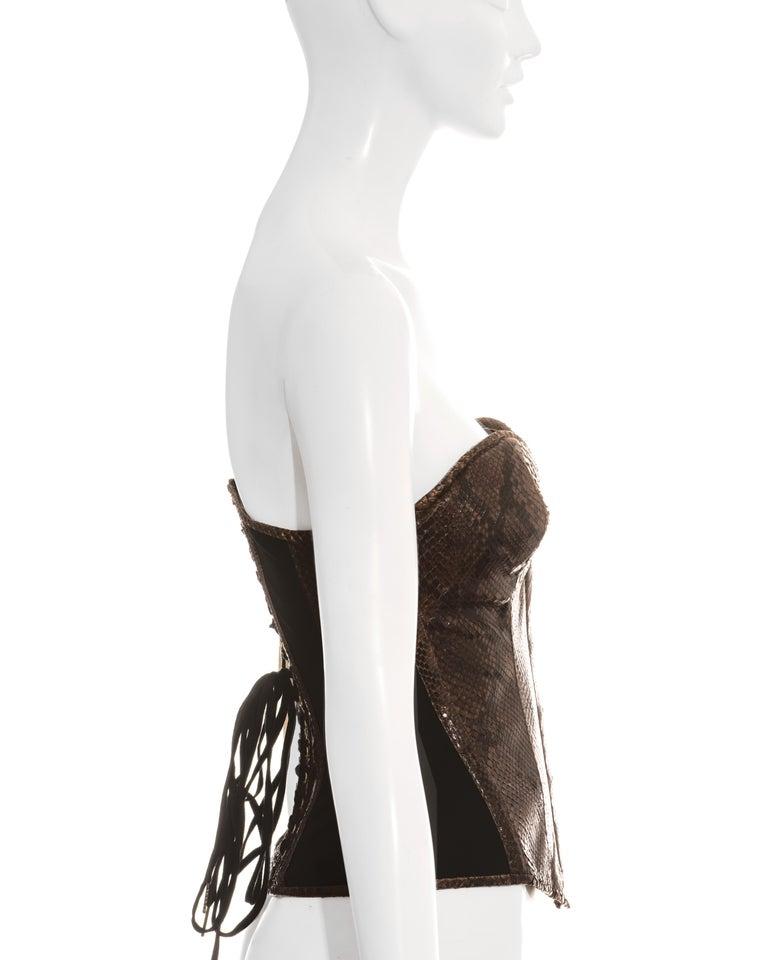 Dolce & Gabbana brown python bustier corset, ss 2005 2