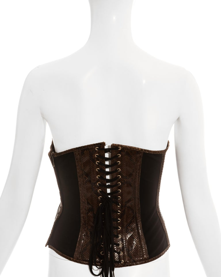 Dolce & Gabbana brown python bustier corset, ss 2005 3