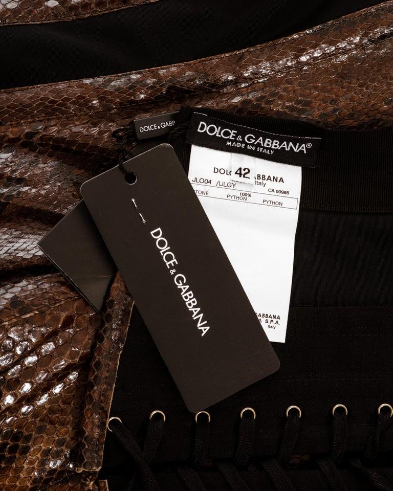 Dolce & Gabbana brown python bustier corset, ss 2005 4