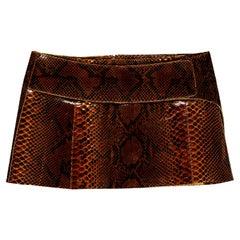 Dolce & Gabbana brown python mini skirt, ss 2000