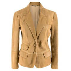 Dolce & Gabbana Brown Suede Jacket  UK 12