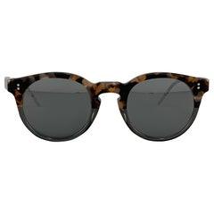 DOLCE & GABBANA Brown Tortoiseshell Acetate Mirrored Circle Sunglasses